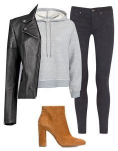 """""""Untitled #260"""" by preppedinpolos on Polyvore featuring rag & bone/JEAN, T By Alexander Wang, Boohoo and Gianvito Rossi"""