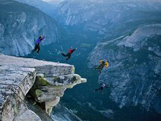 Leaping from Half Dome is illegal, but in Yosemite the sport of BASE jumping is soaring in popularity anyway. Climbers say it's faster (and more fun) to parachute into the valley than to hike all the way down the back of the mountain.