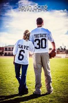 "LOVE this ""Save the Date"" idea ...this is for all you Football Fans out there... sports save the dates, baseball save the dates #wedding #sports"