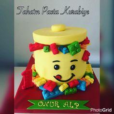 Lego cake. Lego temalı pasta