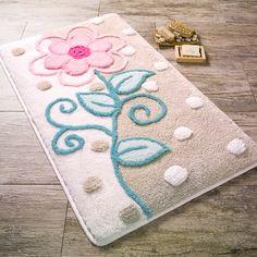 Locker Rugs, Pom Pom Rug, Modern Carpet, Flower Applique, Punch Needle, Rug Hooking, Yarn Crafts, Floor Mats, Shag Rug