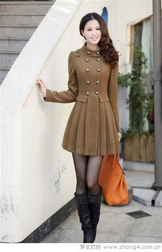 Love a great coat dress ~ just lengthen the dress!  I know I'm getting old, but it really does look better that way!
