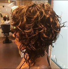 Curly A Line Haircut