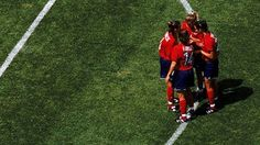 Team USA stand in a pre-game huddle before the Women's World Cup Game against Denmark World Cup Games, Fifa Women's World Cup, Team Usa, Denmark, To Go, History, Day, Historia