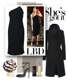 """""""Little Black Dress"""" by emavera ❤ liked on Polyvore featuring Brandon Maxwell, Tom Ford and Kevyn Aucoin"""