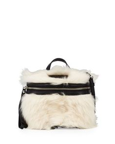 Canteen+Shearling+Fur+&+Leather+Crossbody+Bag,+Black/Multi+by+MARC+by+Marc+Jacobs+at+Neiman+Marcus.