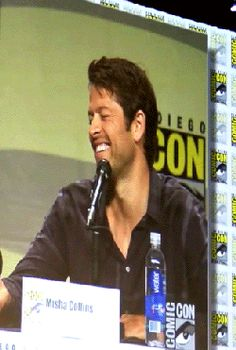 Misha Collins...Cute as hell.