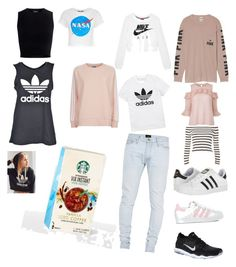 """Wish list 1"" by livlouise2002 on Polyvore featuring Fear of God, adidas, adidas Originals, NIKE, Victoria's Secret, Mother of Pearl and Topshop"
