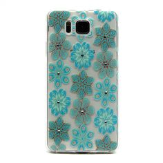 Coque Transparente Samsung Galaxy Alpha - Fleurs Bleues
