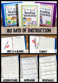 Reading Workshop Bundle-Get 180 days of reading instruction. This unit includes detailed lesson plans written in a workshop format, printables, fluency passages, homework, and more! Reading Lesson Plans, Reading Lessons, Reading Resources, Reading Skills, Reading Homework, Reading Club, Teaching Reading, Reading Comprehension, Guided Reading