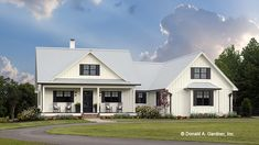 Home Plan HOMEPW77452 - 1905 Square Foot, 3 Bedroom 2 Bathroom Country Home with 2 Garage Bays | Homeplans.com