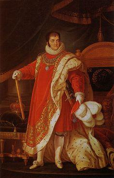 Fernando VII, King of Spain, as the Great Master of the Golden Toison Order by Luis de la Cruz y Ríos