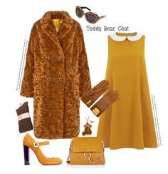 """Snuggle Up: Teddy Bear Coat'"" by dianefantasy ❤ liked on Polyvore featuring Christian Louboutin, Moschino, Chloé, MCM, Hermès, polyvorecommunity, polyvoreeditorial and teddybearcoats"