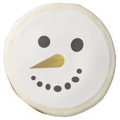 Silly Snowman Face Sugar Cookies Sugar Cookie