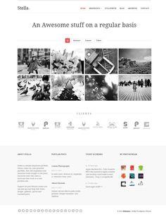 Stella Responsive Wordpress Theme - Home by elthemes.deviantart.com