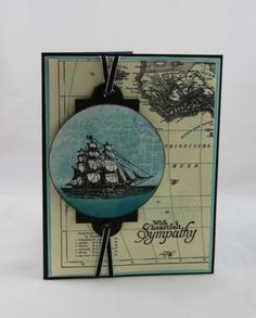 The Open Sea Sympathy Card - Miechelle Weber, see the details on my blog: http://stampinu.wordpress.com/2013/12/29/open-sea-sympathy/