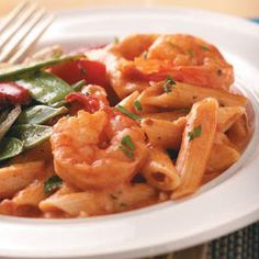 Love this pasta dish!  I usually double the recipe and include the fresh basil with the sauce to add a deeper flavor.  Just add salad and your dinner is complete!