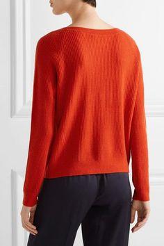 Vince - Ribbed Cashmere Sweater - Papaya - x small