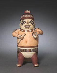 Peru, South Coast, Nasca, Early Intermediate Period, ceramic and slip, Overall - h:28.80 w:16.00 d:17.00 cm (h:11 5/16 w:6 1/4 d:6 11/16 inches) Wt: 0.68 kg. Severance and Greta Millikin Purchase Fund 2012.116