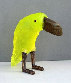 Žlutá kolekce - Art on stage Cast Glass, Parrot, Glass Art, Objects, Birds, Sculpture, Bohemian, Fused Glass, Parrot Bird