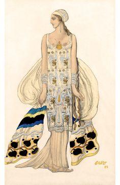 Ballets Russe Costume, Leon Bakst, Phaedra, Instant Digital Download