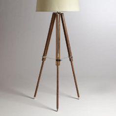wood tripod lamp