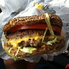 Keller's Drive-In - Dallas, TX, United States. No. 5 Special (Double Meat & Cheese, Lettuce, Tomato, Special Dressing, $2.89)