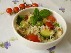 Le    ricette    di    Claudia  &   Andre : Il tricolore nel piatto con insalata di basmati, z...
