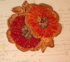 vintage ribbonwork 1920's vintage silk by DeborahsVintageAttic