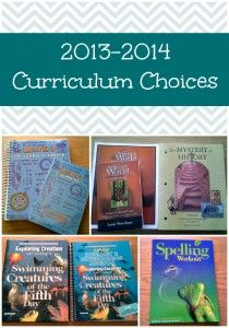 2013-2014 Curriculum Choices - Upside Down Homeschooling