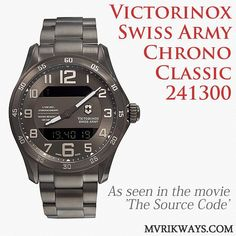 Victorinox Chrono Classic 241300 - Has anyone seen the movie The Source Code? Remember this watch? It's quite rare, so if anyone has managed to get their hands on one, upload your photo and tag us in! #menswatch #menswear #victorinox #mensfashion #watches #luxurylife #hardworkpaysoff #motivation #menstyle #mensstyle