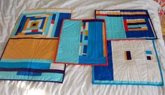 I made these placemats for a solids swap a few years back. I really loved how they turned out.