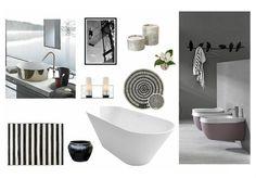 Bathroom by uana. Create your own interior design moodboard now! Mood Boards, Bathrooms, Bathtub, Interior Design, Check, Standing Bath, Nest Design, Bath Tub, Bathroom