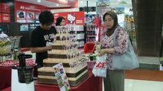 With customer