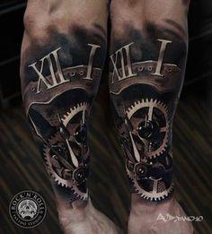 Awesome-Broken-Clock-Tattoo-On-Arm-Sleeve.jpg (867×960)