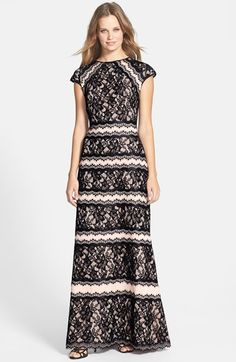 5c1ce3dcbdcf0 Free shipping and returns on Tadashi Shoji Lace Embellished Neoprene Gown  at Nordstrom.com.