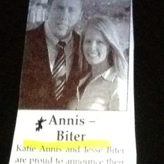 [ Funny Wedding Announcements Wedding Announcements Funny Weddings ] - Best Free Home Design Idea & Inspiration Funny Weddings, Funny Names, Wedding Announcements, Wedding Humor, Getting Old, I Am Awesome, Hilarious, Words, Teeth