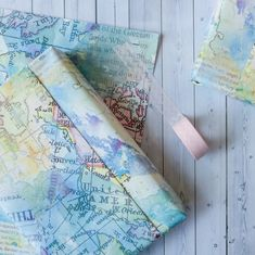 Wrapping Paper Sheets Wrapping Paper Pack Of Five Small Wrapping Paper Sheets Gift Wrap Watercolour Design Map Design by BookishlyUK Pastel Watercolor, Watercolor Effects, Watercolor Design, Map Wrapping Paper, Gift Wrapping, Unique Maps, Map Design, Book Gifts, Paper Gifts