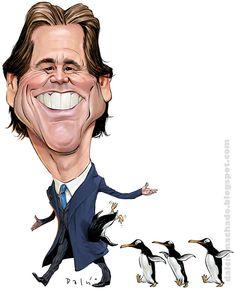 Jim Carrey Jim Carrey, Cartoon Faces, Funny Faces, Cartoon Art, Funny Caricatures, Celebrity Caricatures, Goofy Face, Folk Print, Cute Stars