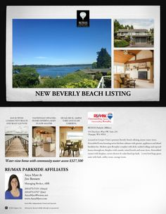 Beverly Beach Home For Sale $327,500 #olyhomes #olympia #remax #realtor