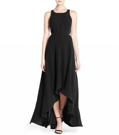 Ali & Jay Cutout Back Crepe Maxi Dress