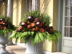 Winter idea.  spring garden containers | Containers Gallery - The Cultivated Garden