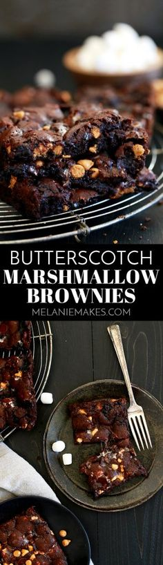 These Butterscotch Marshmallow Brownies may be the last brownie recipe you'll ever need. An indulgent, fudge brownie base is studded with miniature marshmallows before being showered with dark chocolate and butterscotch chips. When they emerge from the oven, all warm and gooey, you'll be reaching for a knife to cute them with one hand and a large glass of milk with the other.