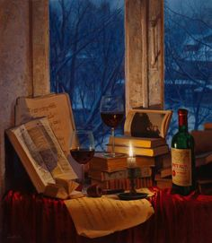 Evgeny Lushpin ~ Wine and Candle