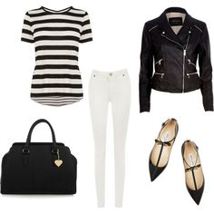 Black & White Summer by sharnapelling on Polyvore featuring Karen Millen, River Island, Warehouse, Jimmy Choo and Marc B