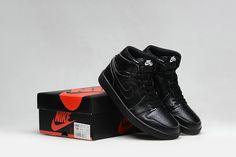 72b42fea6bb078 Air Jordan 1 Womens New Arrival Air Jordan 1 Mid GS All Black Blackout Cheap  Jordan