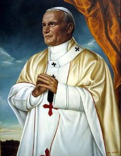 paintings of John Paul II Catholic Medals, Catholic Art, Catholic Saints, Roman Catholic, Pope John Paul Ii, Paul 2, Happy Feast Day, Divine Mercy Sunday, Papa Juan Pablo Ii