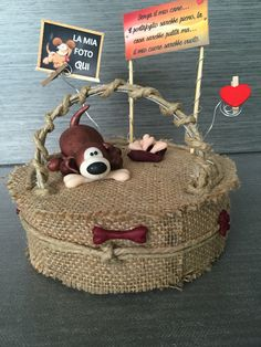 photoframe polymer clay handmade by me with a cute little dog