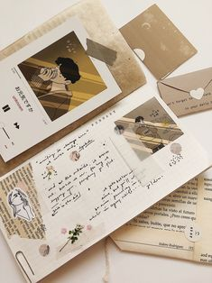 Dulcet — お元気ですか (How are you? Bullet Journal Aesthetic, Bullet Journal Notebook, Bullet Journal Ideas Pages, Bullet Journal Inspiration, Art Journal Pages, Pen Pal Letters, Scrapbook Journal, Scrapbook Supplies, Journals