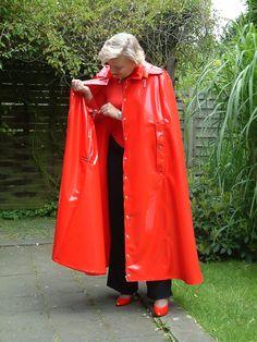 Vintage Comic Books, Vintage Comics, Red Raincoat, Rain Cape, Rain Wear, Suits, Jackets, Plastic, Places